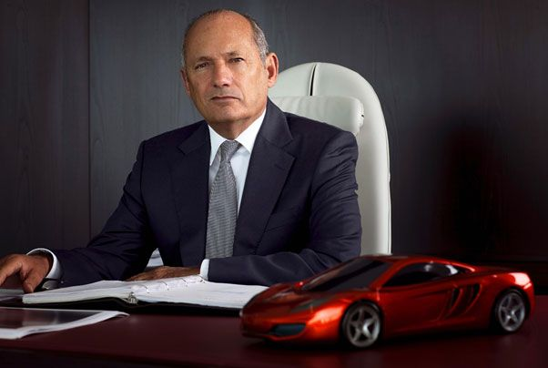 McLaren Group Chief Executive: Ron Dennis (with a model of the MP4-12C roadcar)