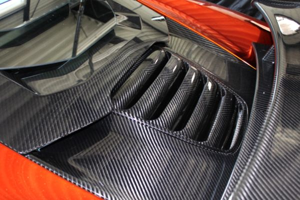 A Mansory engine cover for a McLaren MP4-12C