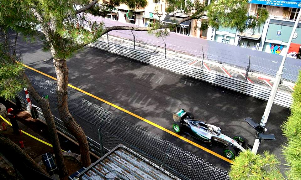 Lewis Hamilton during First Practice in Monaco in 2015