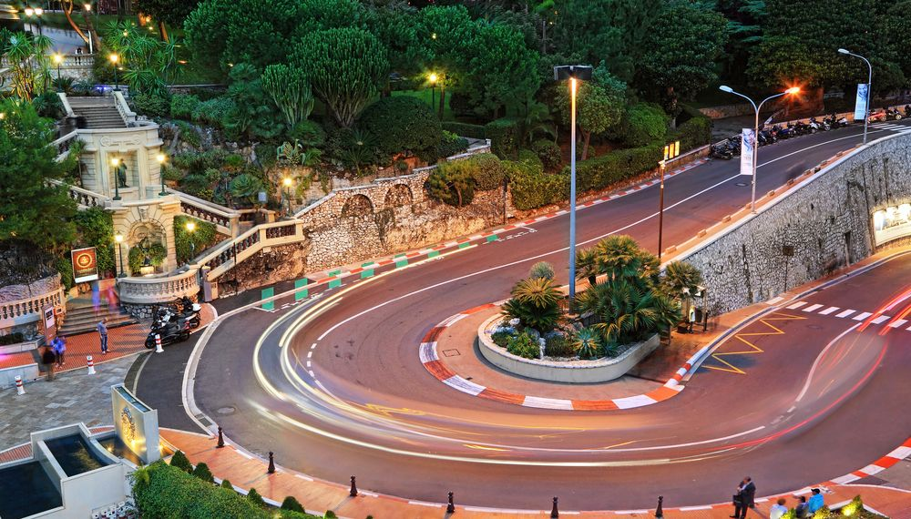 The famous Fairmont Hotel hairpin at the Monaco Grand Prix