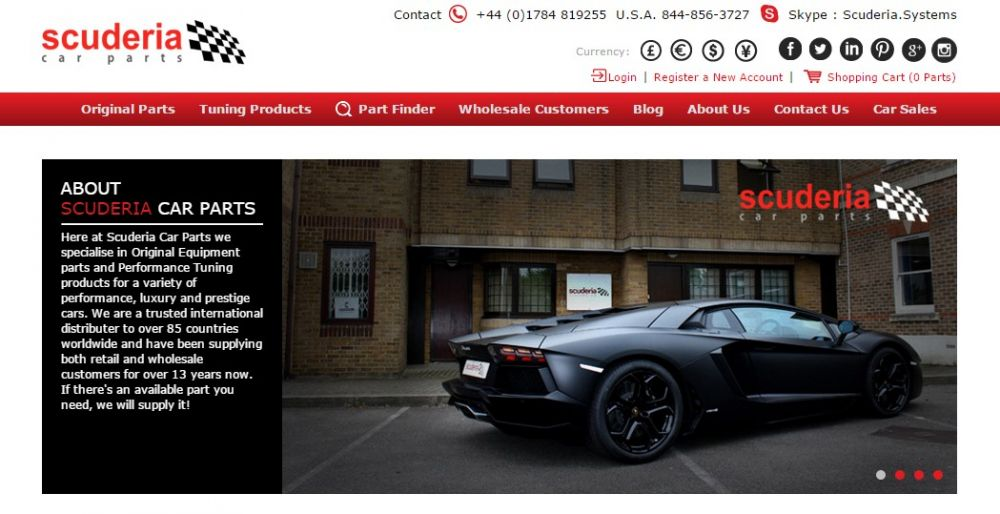 Scuderia Car Parts launches new website! - Scuderia Car Parts