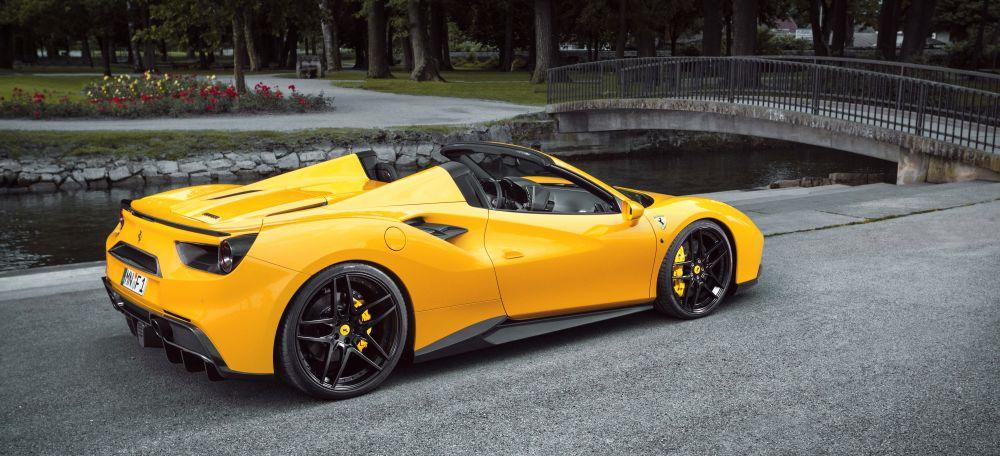 The beautiful Ferrari 488 Spider by Novitec Rosso