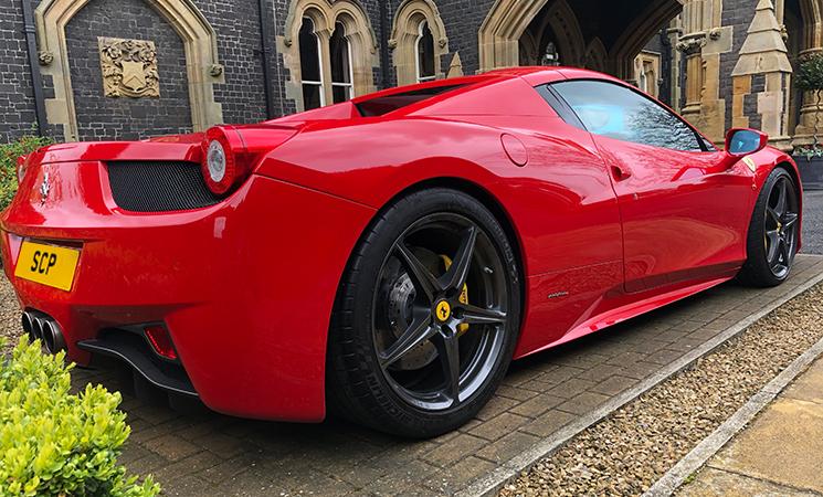 Ferrari 458 with Novitec sports springs