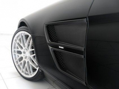Brabus Fender Inserts in Visible Carbon Fiber for the Mercedes Benz SLS 1