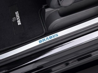 Brabus Entrance Panels (Stainless Steel): 2-Piece for the Mercedes Benz E Coupe/Cabriolet C/A 207 1
