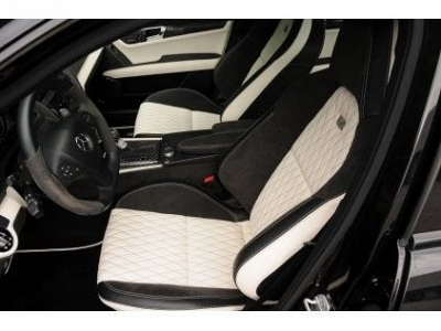 Brabus cover for 2 front seats in leather alcantara for for Seat covers for mercedes benz c class