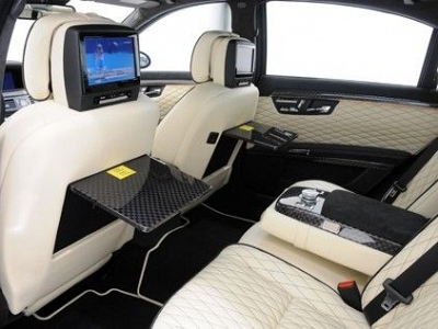 Brabus Seatback Covers in Leather for the Mercedes Benz S-Class W/V 221 1