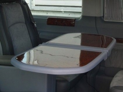 Brabus Walnut Table Surfaces for the Mercedes Benz Viano W639 1