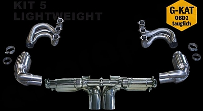 Cargraphic Sport Exhaust System Kit 5 Lightweight for the Porsche GT3 997.2 1