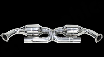 Sport Catalytic Converter Set X Pipe Version for the Porsche 911 996 GT3 from Cargraphic 1