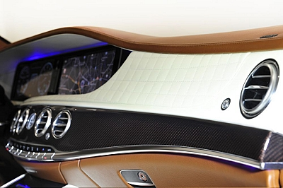 Brabus Dashboard in Leather/Alcantara for the Mercedes Benz S63/S65 AMG (W222) 1