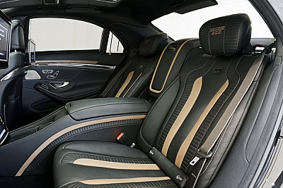 Brabus Middle Console for Rear Seats in Leather/Alcantara for the Mercedes Benz S63/S65 AMG (W222) 1