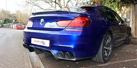 Rear diffuser, spoiler and tips in carbon