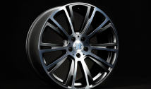 Monoblock R 5-double-spoke-design anthracite 'Liquid Titanium smoked' polished