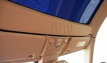 Boot mat in quilted leather incl. headliner section
