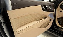 Complete door panels in leather/alcantara