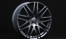 Monoblock F cross spoke design, 'Liquid Titanium' painted