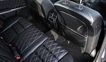 Seatback covers incl. sidebags in leather / alcantara