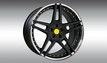 Type NF3 Aluminium Wheel Star Black / Rim-Lip Chrome
