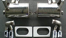 Sport Rear Muffler with 4 Tailpipes