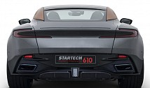 Startech Exhaust tips, silver, bracket in carbon