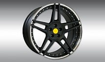 Type NM3 Wheel-Star Black with Chrome Rim Lip