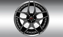 Type NL1 Forged Aluminium Wheel - Black/Rim Lip Chrome