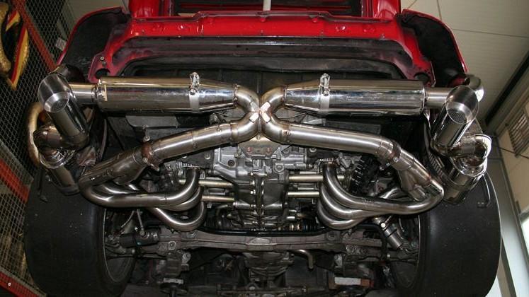 Porsche 911 993 Race Exhaust System Cargraphic Scuderia Car Parts