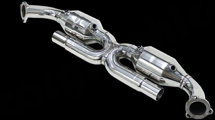 "Sport Catalytic Converter Set ""X"" Pipe Version Image 3"
