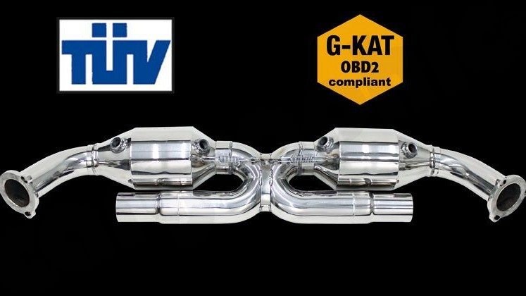 "Sport Catalytic Converter Set ""X"" Pipe Version Image 1"