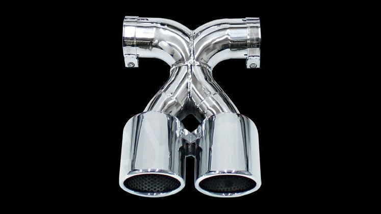 "Double End Tailpipes ""X"" Version Image 2"