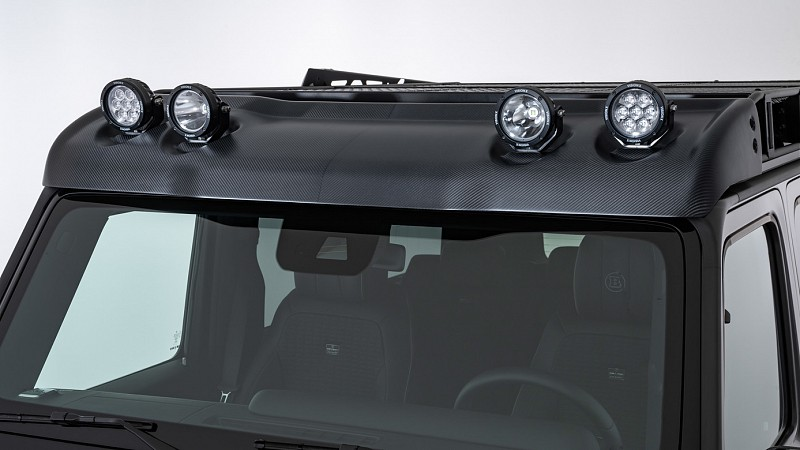 Carbon Wind Deflector with LED Headlights Image 1