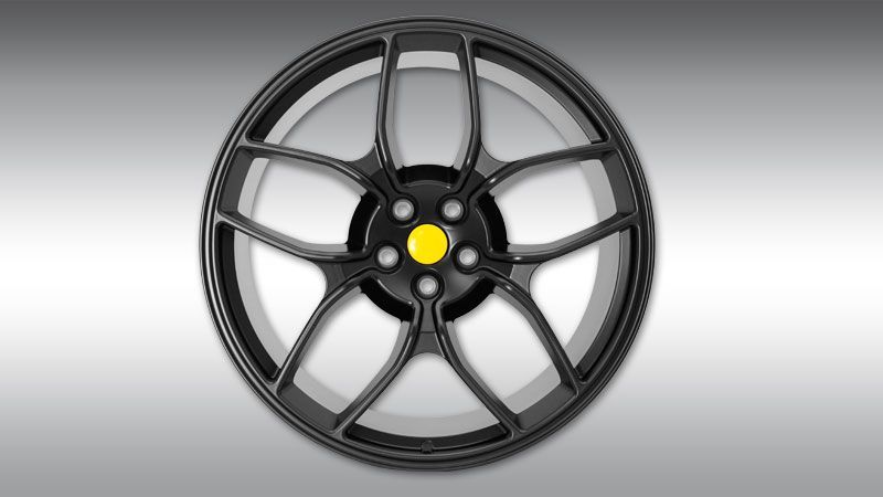 Type NF4 Forged Aluminium Wheel - Black Image 1