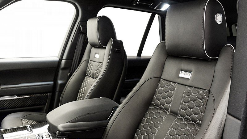 Startech leather interior for range rover vogue scuderia - Range rover with red leather interior ...