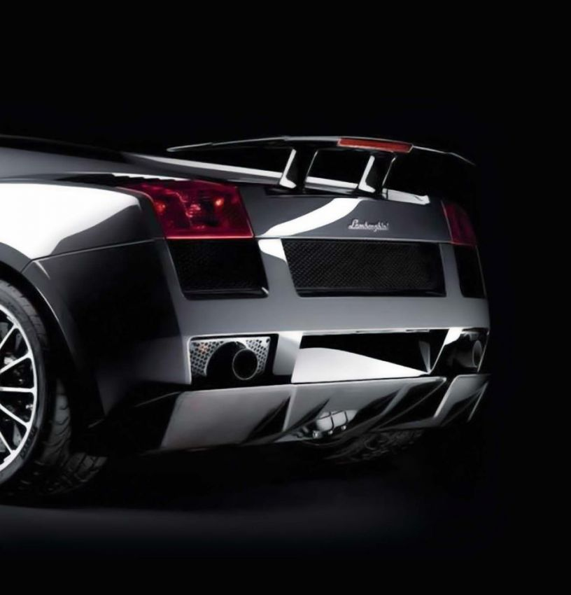 Accessories Tall Rear Spoiler In Carbon Fiber For Lamborghini