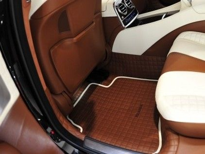 Quilted Leather Floor Mats With Stitched Logo From Brabus