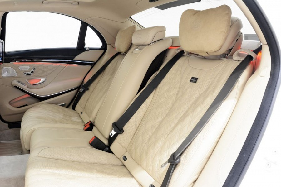 2 Easy Adjust Comfort Headrests from Brabus: Mercedes Benz S63/S65