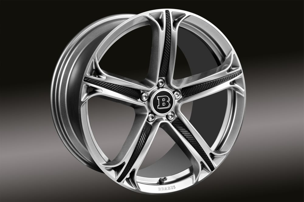 monoblock t 5 spoke rims with inlays in carbon design