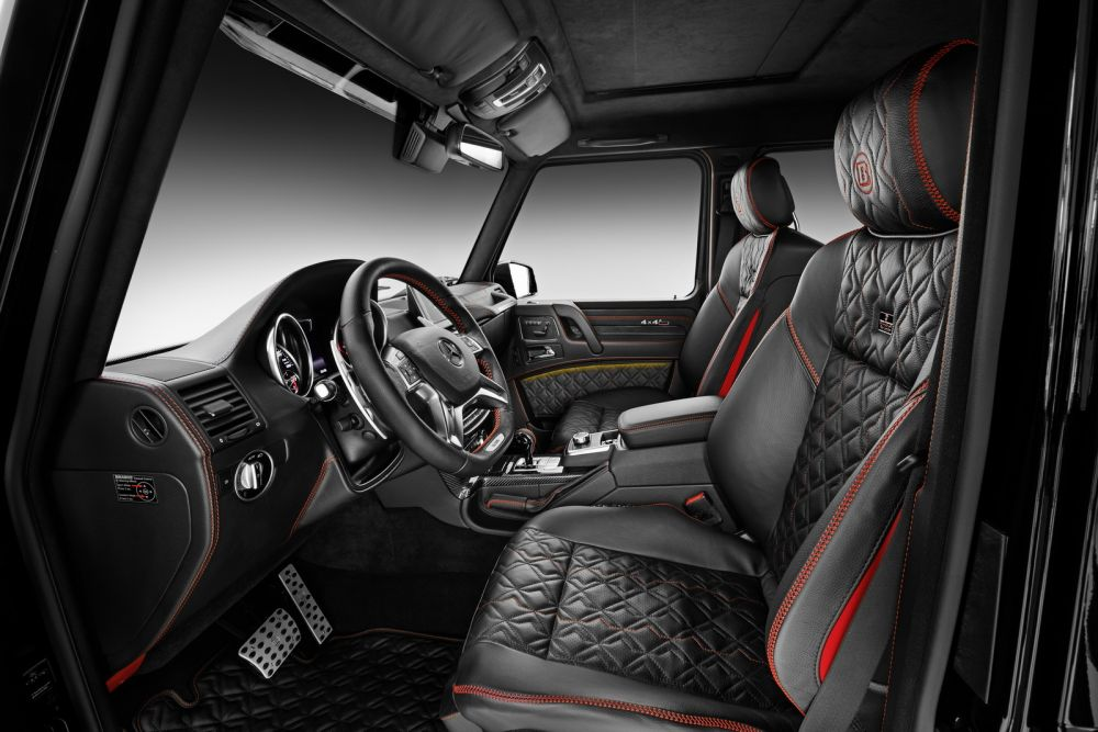 brabus leather alcantara interior conversion mercedes benz g class w463 scuderia car parts. Black Bedroom Furniture Sets. Home Design Ideas